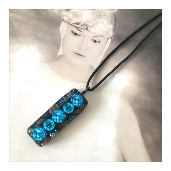 Organite Blue Dragon EMF Protection Necklace